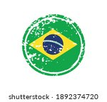 grunge rubber stamp with brazil ... | Shutterstock .eps vector #1892374720