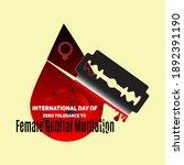 zero tolerance for female...   Shutterstock .eps vector #1892391190