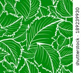 seamless leaves pattern with... | Shutterstock .eps vector #189239930