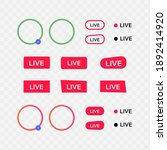 live streaming buttons set....