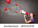 young girl having fun  shouting ... | Shutterstock . vector #189242540