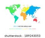 world map illustration  eps10   ... | Shutterstock .eps vector #189243053