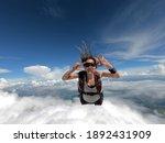 Young Woman Parachutist Smiling ...