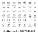laundry icons. care clothes... | Shutterstock .eps vector #1892432443