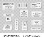 laundry white labels. textile... | Shutterstock .eps vector #1892432623