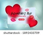 vector banner for valentine's... | Shutterstock .eps vector #1892433709