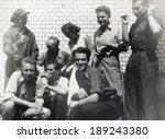 poland  circa 1950  a group of... | Shutterstock . vector #189243380