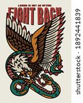 eagle fights with a snake... | Shutterstock .eps vector #1892441839