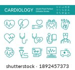 set of icons of cardiology....   Shutterstock .eps vector #1892457373