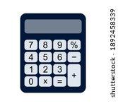 calculator icon vector. savings ... | Shutterstock .eps vector #1892458339