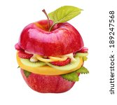 creative healthy juicy apple... | Shutterstock . vector #189247568