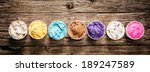 row of assorted flavors and... | Shutterstock . vector #189247589