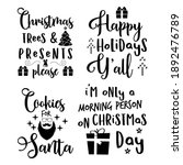 christmas calligraphy quotes... | Shutterstock . vector #1892476789