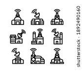 satellite center icon or logo...