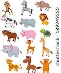 wild animal cartoon collection  | Shutterstock .eps vector #189249230