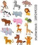 wild animal cartoon collection  | Shutterstock . vector #189249233