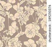 elegant floral wallpaper  ... | Shutterstock .eps vector #189250376
