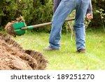 a man digging in the garden... | Shutterstock . vector #189251270