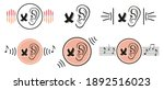 deafness lack of hearing icon... | Shutterstock .eps vector #1892516023