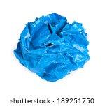 screwed up piece of blue paper... | Shutterstock . vector #189251750