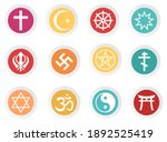 world religious icons with full ...   Shutterstock .eps vector #1892525419