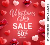 valentine's day sale 50  off...   Shutterstock .eps vector #1892562256