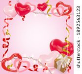 valentines day background with...   Shutterstock .eps vector #1892563123