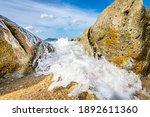 Sea Wave Splash Between Beach...