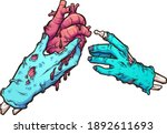 Zombie Hand Giving A Bleeding...