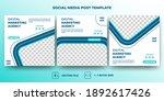 set of editable square banner... | Shutterstock .eps vector #1892617426