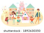 toy and gift shop for kids.... | Shutterstock .eps vector #1892630350