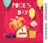 all fools day composition with... | Shutterstock .eps vector #1892630563