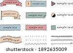 set of hand drawn frame... | Shutterstock .eps vector #1892635009