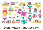 doll  cow  unicorn  transport... | Shutterstock .eps vector #1892651593