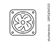 simple cooling fan vector... | Shutterstock .eps vector #1892656510