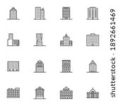 city buildings line icons set ...   Shutterstock .eps vector #1892661469