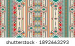 ikat geometric folklore... | Shutterstock .eps vector #1892663293