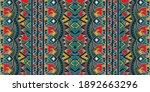 ikat geometric folklore... | Shutterstock .eps vector #1892663296