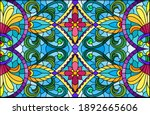 illustration in stained glass... | Shutterstock .eps vector #1892665606