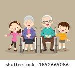 grandparents sitting on...   Shutterstock .eps vector #1892669086