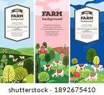 vertical agricultural... | Shutterstock .eps vector #1892675410
