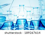 flask and other laboratory... | Shutterstock . vector #189267614