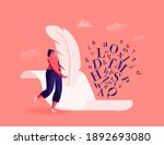 literature and writing hobby ... | Shutterstock .eps vector #1892693080