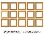 big set of squared golden... | Shutterstock .eps vector #1892693590