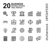 icon set of business. outline...