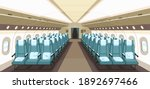 front view of airplane interior ... | Shutterstock .eps vector #1892697466