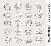 professional chefs hats set....   Shutterstock .eps vector #1892711110
