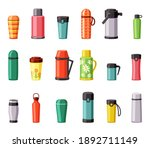 thermo mugs and thermoses set.... | Shutterstock .eps vector #1892711149
