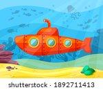 submarine explores ocean depths ...   Shutterstock .eps vector #1892711413