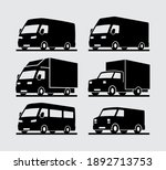 commercial delivery vehicle... | Shutterstock .eps vector #1892713753